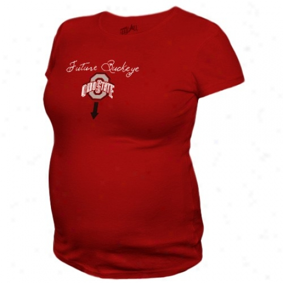 Osu Buckeyes Apparel: My U Osu Buckeyes Ladies Res Future Buckeye Maternity T-shirt