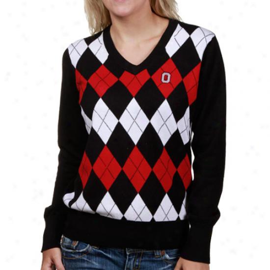 Osu Buckeyes Fleece : Osu Buckeyes Ladies Argyle V-neck Sweater