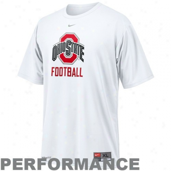 Osu Buckeyes Shirts : Njke Osu Buckeyes White Football Graphic Dri-fit Performance Shirts