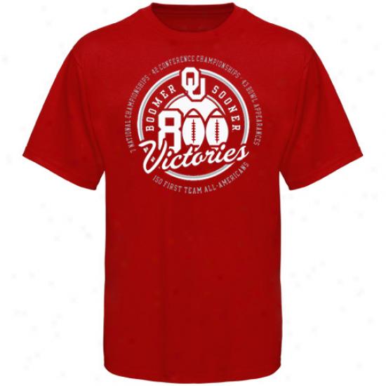 Ou Sooner Tshirts : Ou Sooner Crimson 800 Wins Tshirts