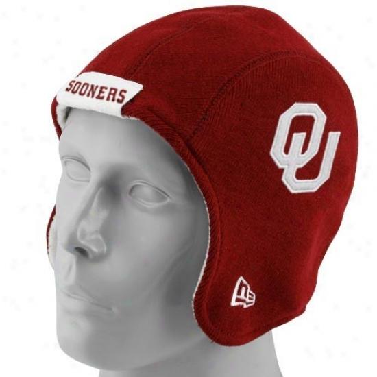Ou Sooners Cardinal's office : New Era Ou Sooners Crimson Pigskin Flapper Hat