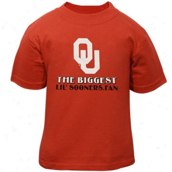 Ou Sooners Tee : Ou Sooners Crimson Infant Biggest Lil' Fan Tee