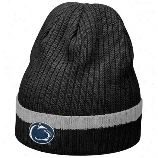 Penn National Caps : Nie Penn State Black 2010 Sideline Cuffed Knit Beanie