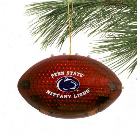Penn State Nittany Lions 4'' Acrylic Light-up Football Ornament
