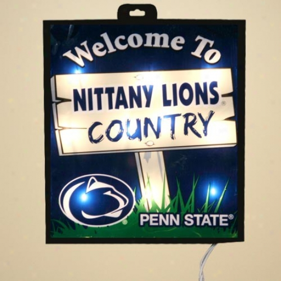 Penn State Nittany Lions Light Up Wall/window Sign