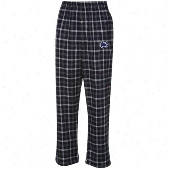 PennS tate Nittany Lions Navy Blue-gray Plaid Match-up Flannel Pajama Pants