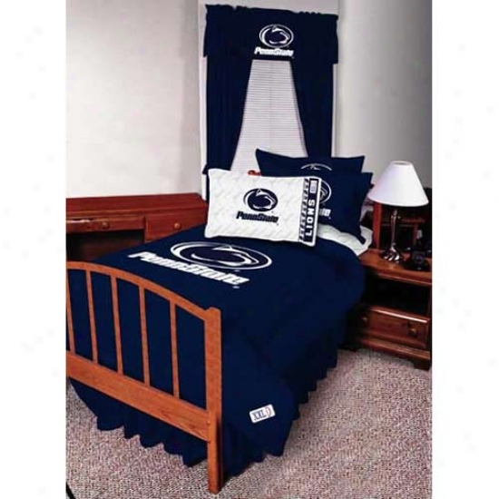Penn S5ate Nittany Lions Queen Size Bed Skirt