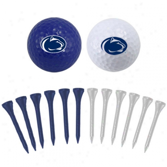 Penn State Nittany Lions Two Golf Balls And Twelve Tees Set