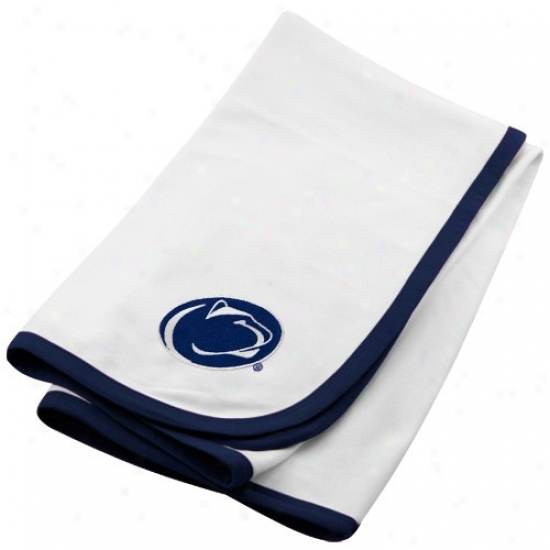 Penn State Nittany Lions White Soft Cotton Baby Blanket