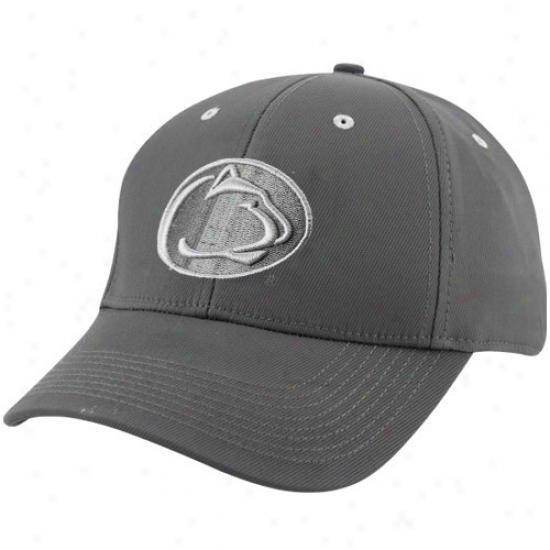 Penn State Umiversity Merchandise: Nike Penn State University Charcoai Legacy Tactile Swoosh Flex Hat