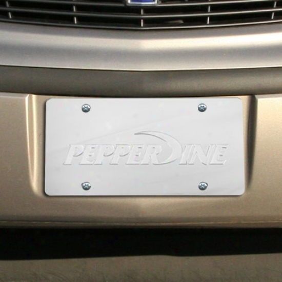 Pepperdine Waves Satin License Plate