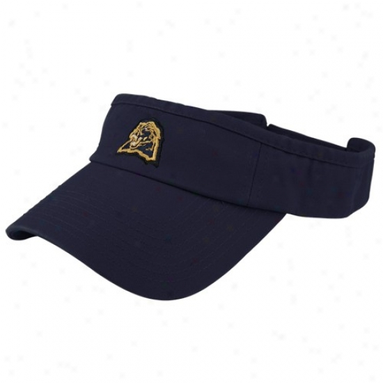 Pitt Panthers Hat : Top Of The World Pitttsburgh Panthers Navy Blue Shady Adjustable Visor