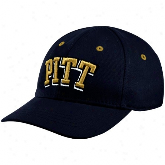 Pitt Panthers Hat : Top Of The Universe Pittsburgh Panthers Navy Blue Infant Lil' Panther Hat