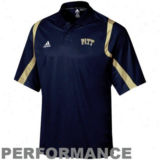 Pitt Panthers Polos : Adidas Pittsburgh aPnthers Navy Blue Big Gamr Climacool Action Polos