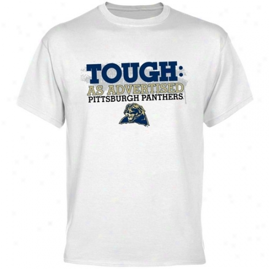 Pitt Panthers T Shi5t : Pittsburgh Panthers White Tough T Shirt