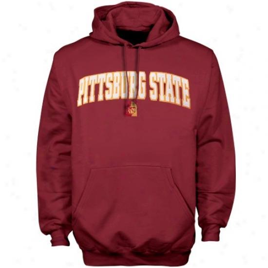 Pittsburg Condition Gorillas Sweatshirts : Pittsburg State Gorillas Crimson Player Pro Bend  Sweatshirts