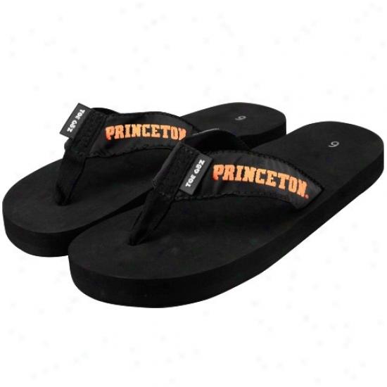 Princeton Tigers Black Flip Flops