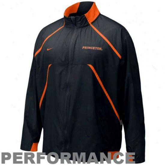 Princeton Tigere Jackets : Nike Princeton Tigers Dismal Fumblerooskie Full Zip Performance Jackets