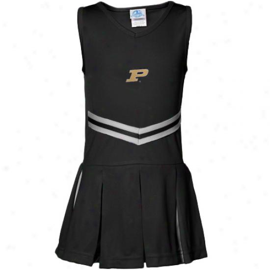 Purdue Boilermakers Boy Girls Black Cheerleader Clothe