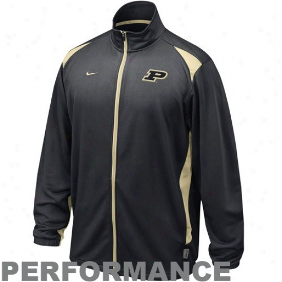 Purdue Jackets : Nike Purdue Graphite Players Warm-up Training Performance Full Zip Jackets