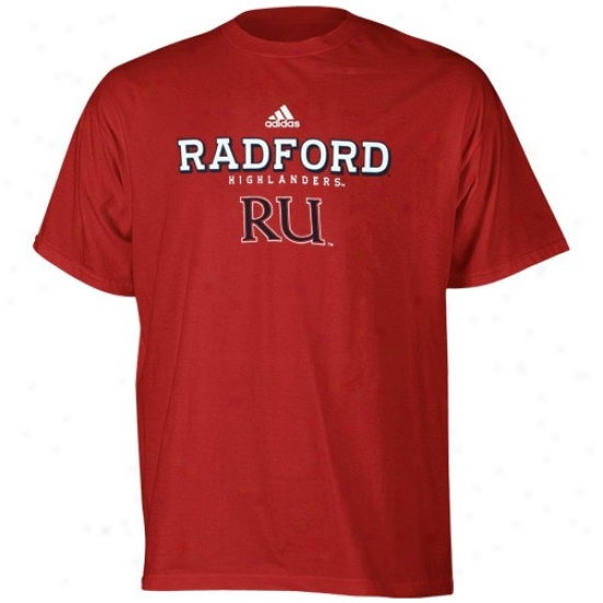 Radford Highlanders Apparel: Adidas Radford Highlanders Red True Basic T-shirt