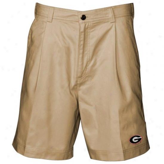Reyn Spooner Georgia Bulldogs Khaki Discoverer Shorts