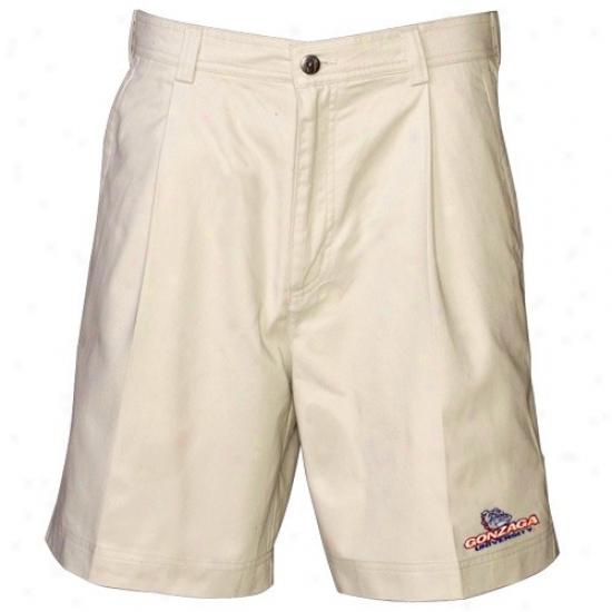 Reyn Spooner Gonzaga Bulldogs Khaki Discoverer Shorts