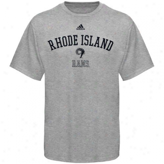 Rhode Island Rams Tshirts : Adidas Rhode Island Rams Ash Practice Tshurts
