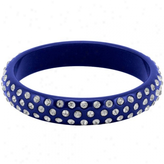 Royal Blue-white Bangle Bracelet