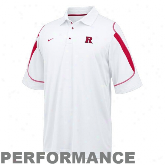 Rutgers Scarlet Knights Clothes: Nike Rutgers Scarlet Knights White Goal To Go Polo