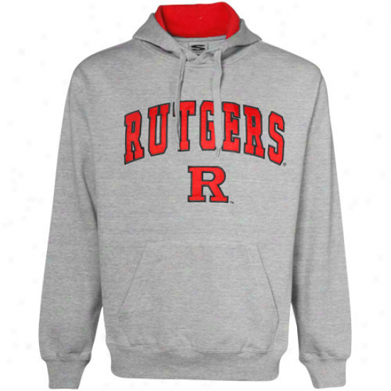 Rutgers Scarlet Knights Fleece : Rutgers Scarlet Knights Ash Classic Twill Fleece