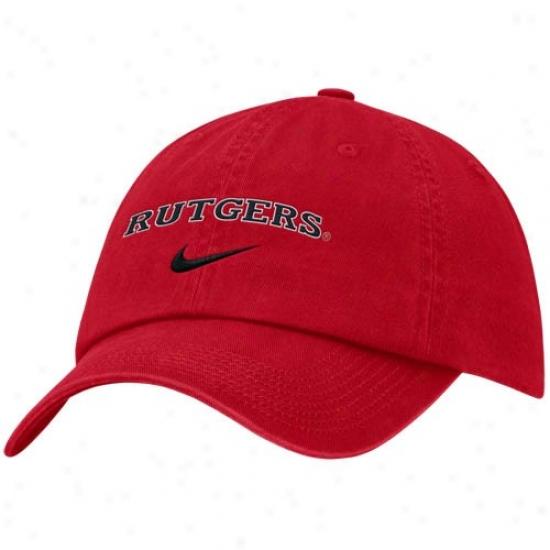 Rutgers Scarlet Knights Gear: Nike Rutgers Scarlet Knights Scarlet Campus Adjustable Hat