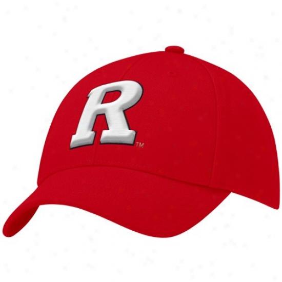 Rutgers Scarlet Knights Hat : Nike Rutgers Scarlet Knights Scarlet Swoosh Flex Fit Hat