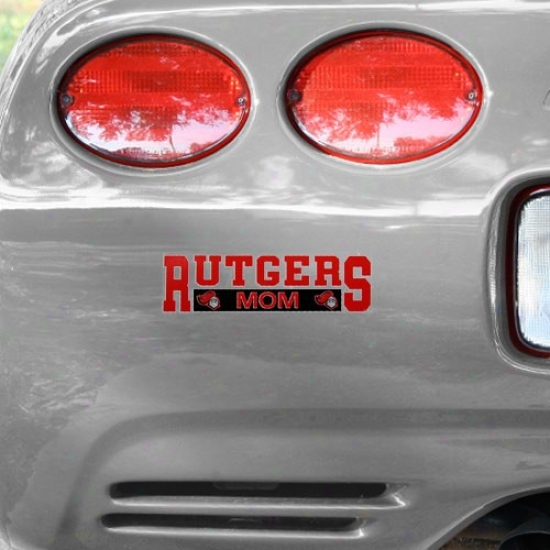 Rutgers Scarlet Knights Mom Car Decal