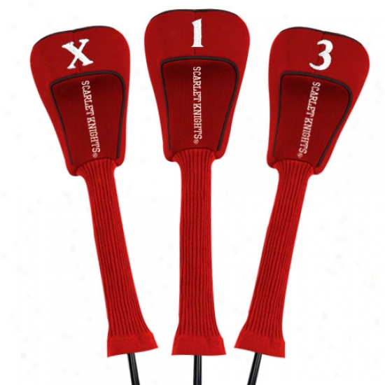 Rutgers Scarlet Knights Scarlet Three-pack Golf Club Headcovers