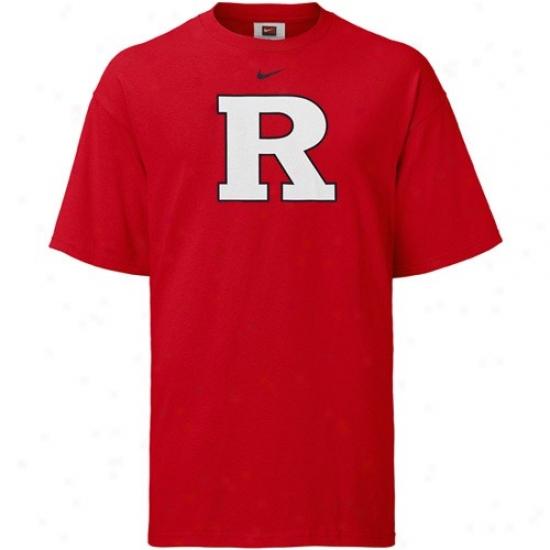 Rutgers Scarlet Knights Tsirt : Nike Rutgers Scarlet Knights Scarlet Classic Logo Tshirt
