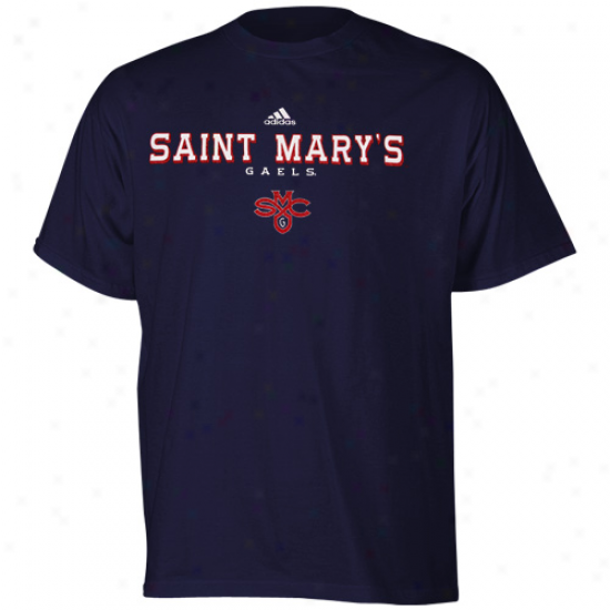 Saint Mary's Gaels Tee : Adidas Saint Mary's Gaels Navy Blue True Basic Tee