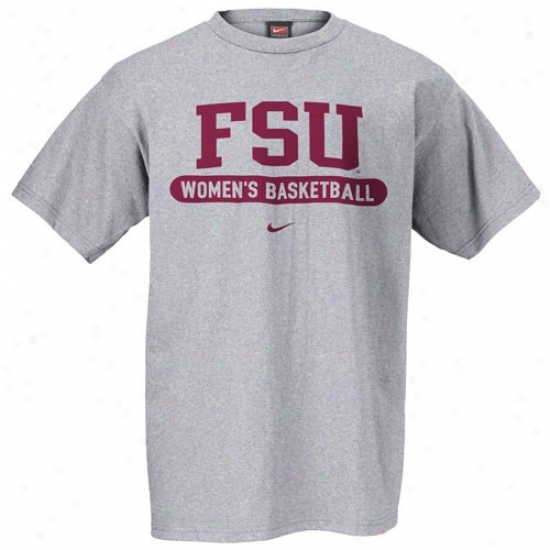 Seminole Apparel: Nike Seminole (fsu) Ash Women's Basketball T-shirt