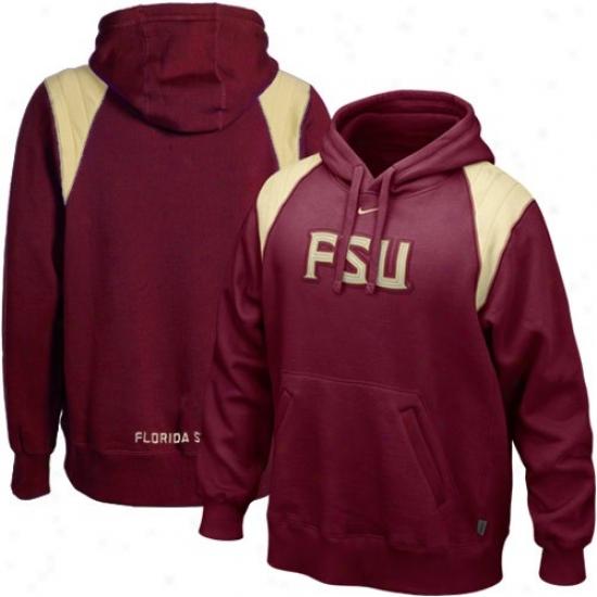 Seminole Stjff: Nike Seminole (fsu) Garnet Hands To Face Hoody Sweatshirt