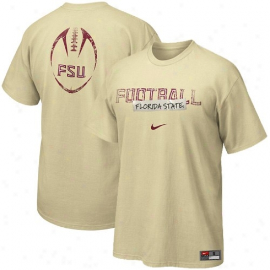 Seminole Tsnirts : Nike S3minole (fsu) Gold Team Amount ~d Tshirtd