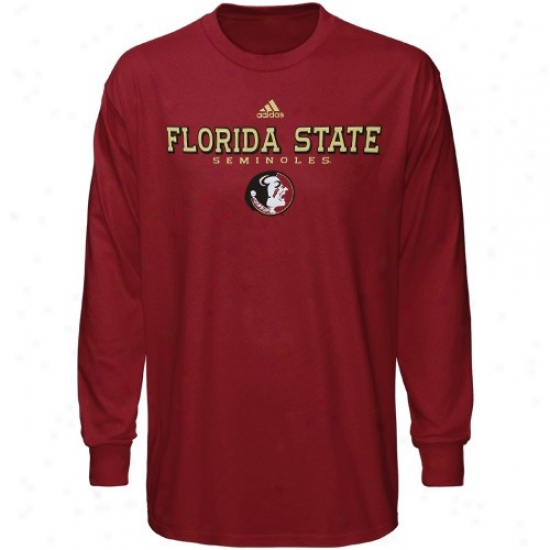 Seminoles Tshirts : Adidas Seminoles (fsu) Garnet True Basic Long Sleeve Tshirts