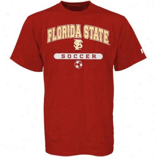 Seminoles Tshirts : Russell Seminoles (fsu) Garnet Soccer Tshirts
