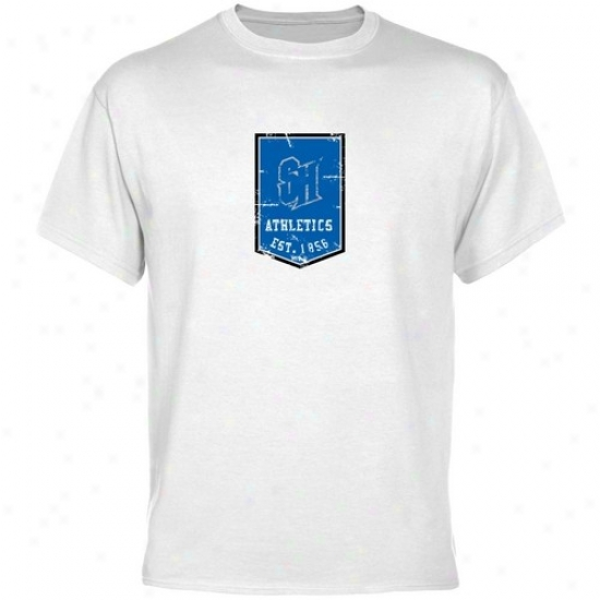 Seton HallP irates Apparel: Seton Hall Pirates White Banner T-shirt
