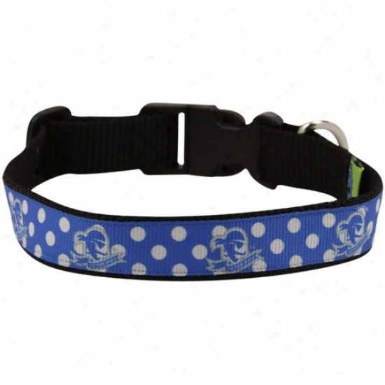 Seton Hall Pirates Lignt Blue Polka Dot Pet Collar