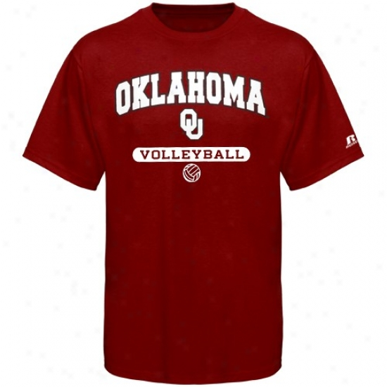 Sooners Attire: Russell Sooners Crimsom Volleyball T-shirt