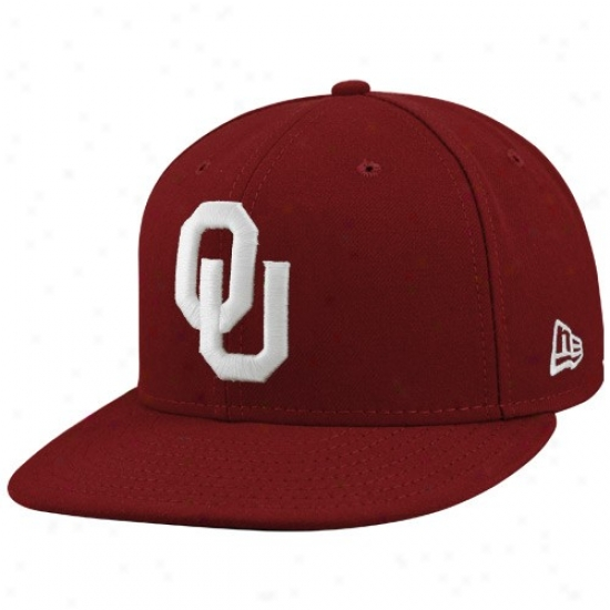 Sooners Caps : New Era Sooners Crimson On Field 59fifty Fitted Caps