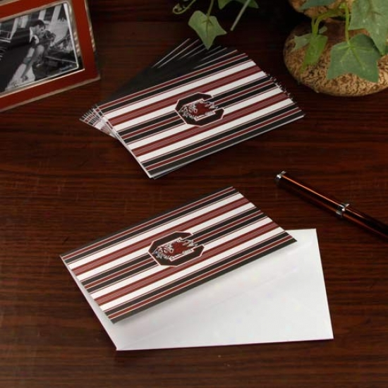 South Carolina Gamecocks 10-pack Striped Folded Note Cards