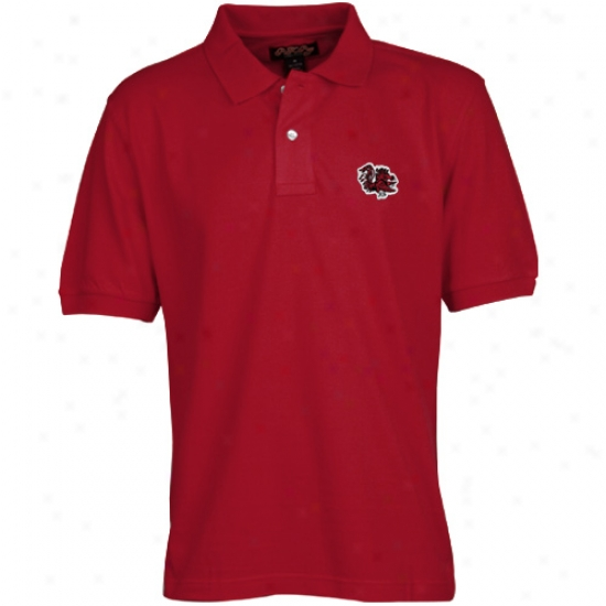 South Carolina Gamecocks Clothes: South Carolina Gamecocks Garnet Classic Pique Polo