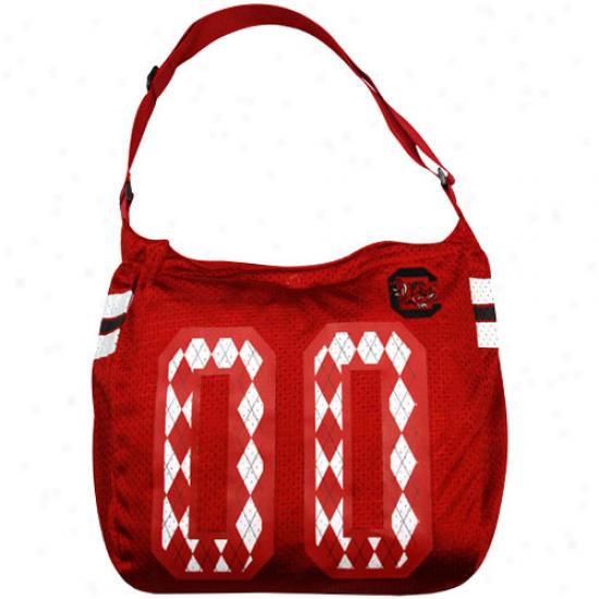 South Carolina Gamecocks Garnet Argyle Preppy Jersey Tote Bag