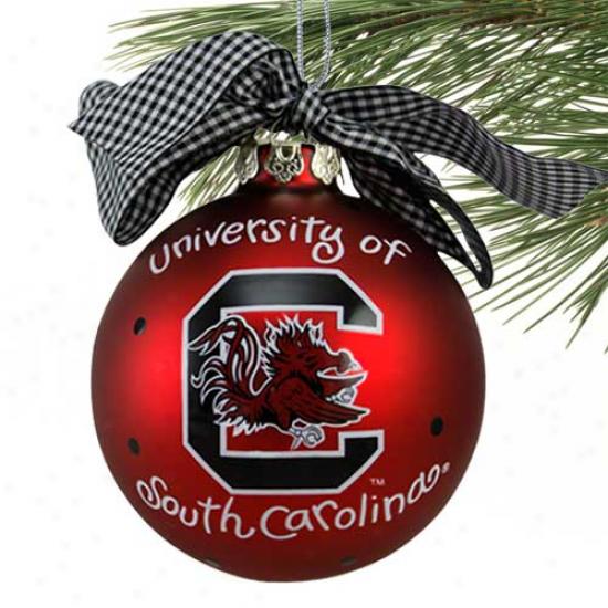 South Carolina Gamecocks Garnet Team Logo Christmas Ornament